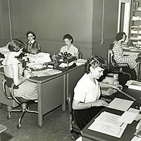 Aflac office in the 1950s